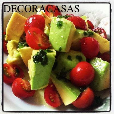 a salada de abacate
