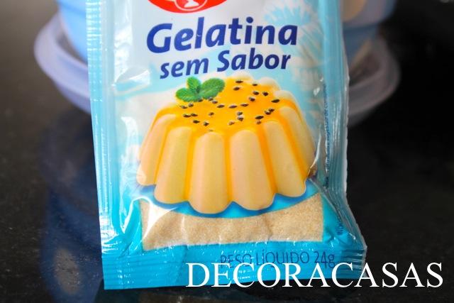 como hidratar a gelatina incolor (sem sabor)