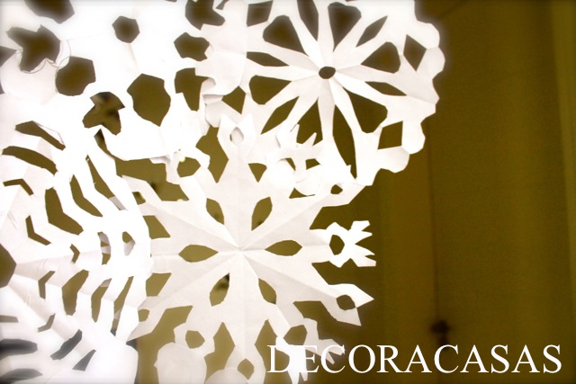 floco de neve de papel