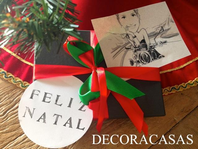 tag para presentes com caricaturas – é natal