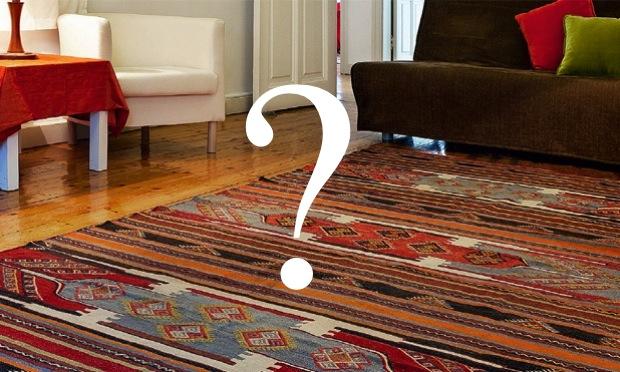 o tamanho do tapete: proporção é tudo