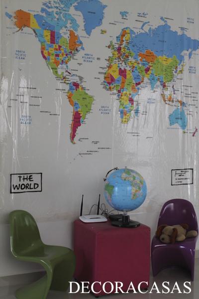50 ideias para usar mapas na decoração
