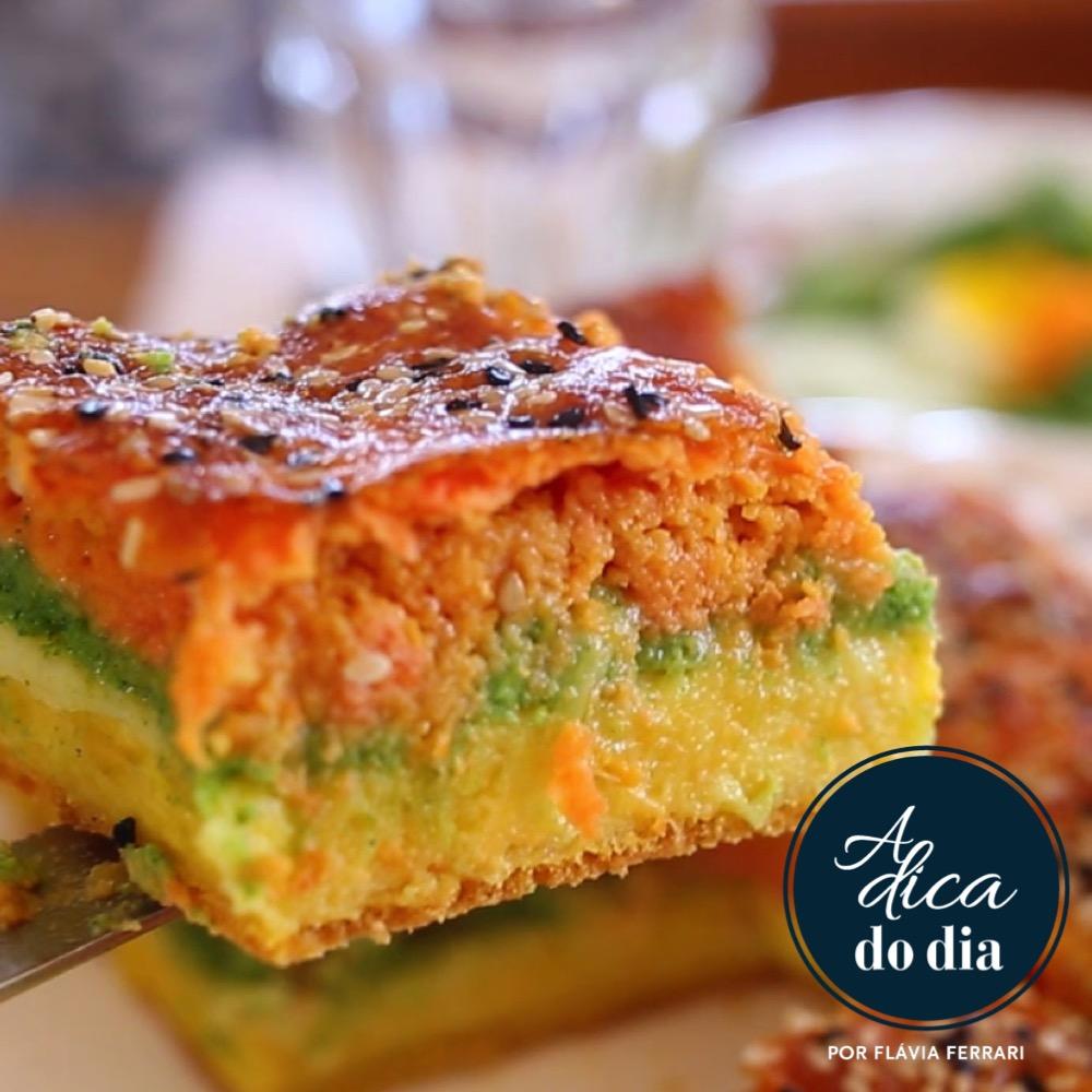 torta de legumes colorida | #aDicadoDia