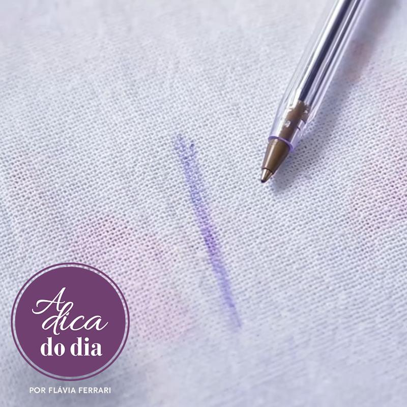 tinta caneta no tecido