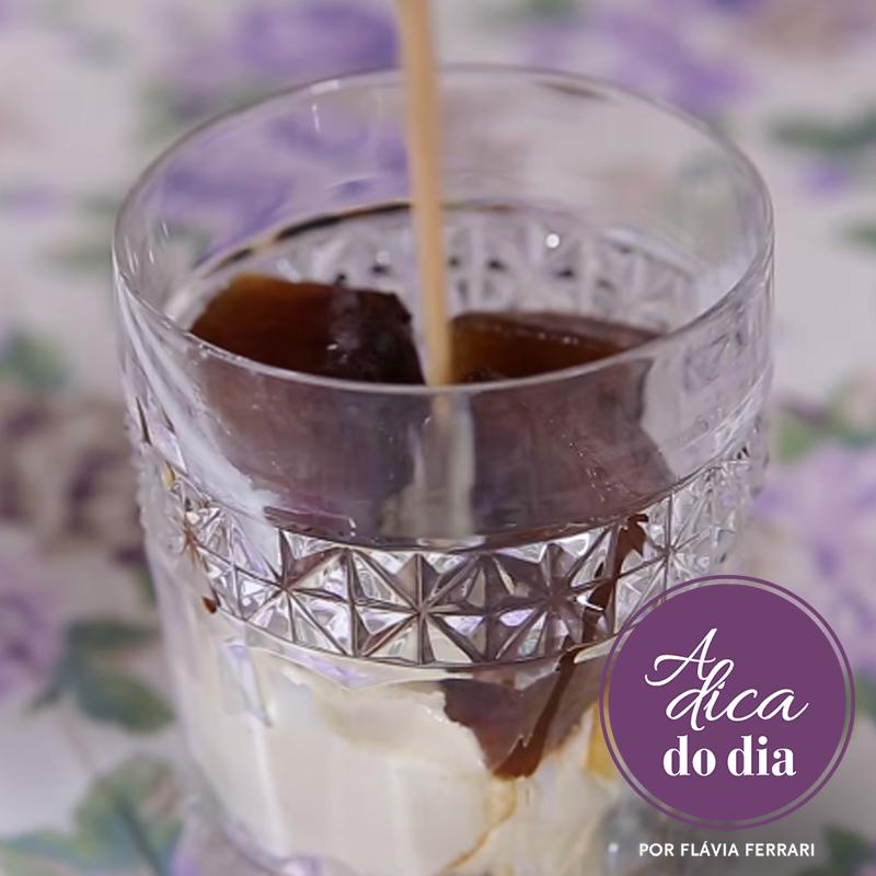 Gelo de café, drink com café