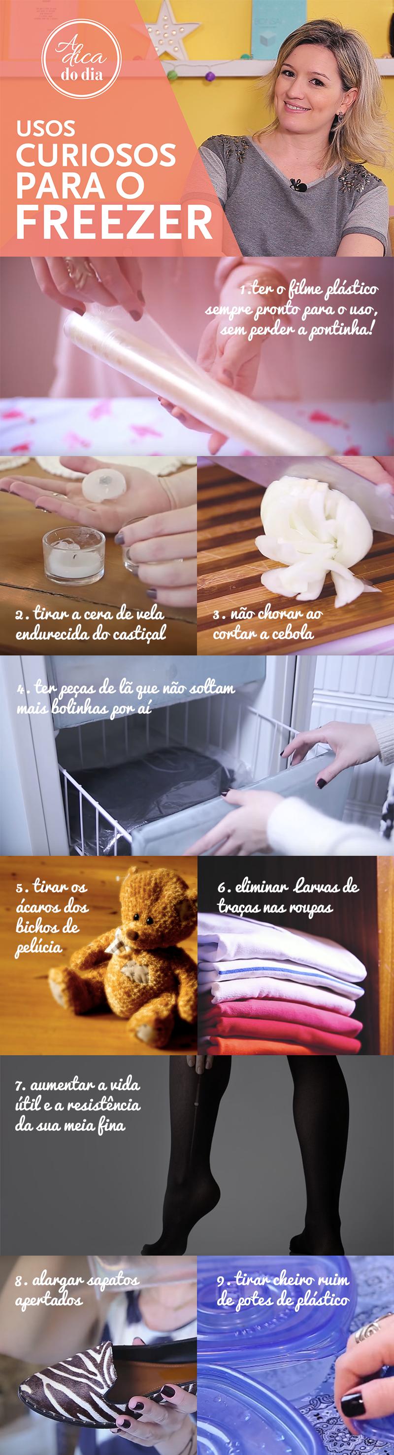 Dicas úteis para usar o freezer