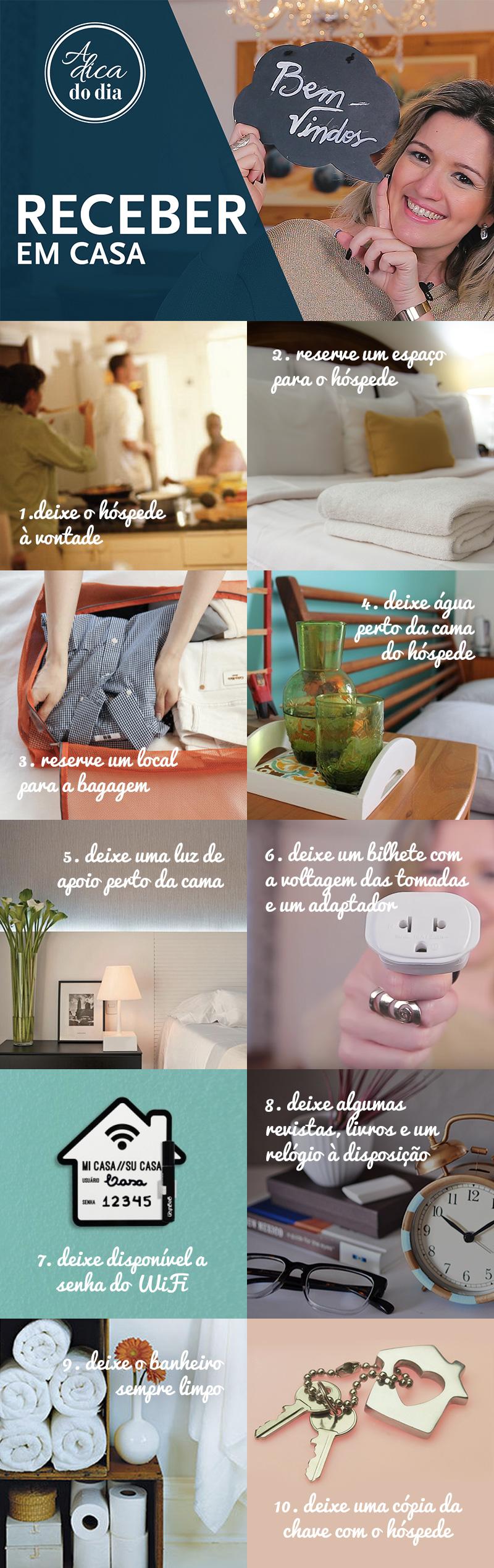 10 dicas para receber hóspedes em casa