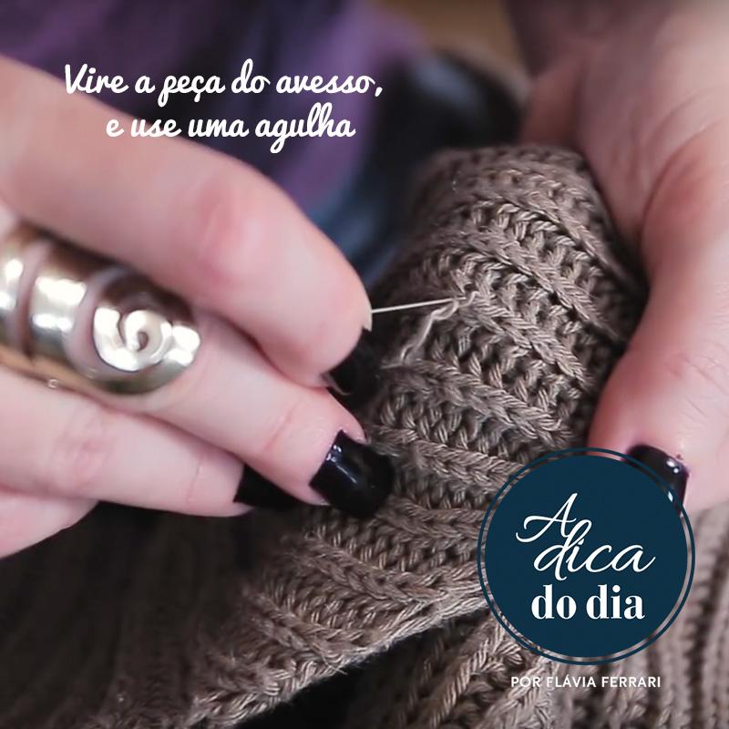 Como consertar roupas com fios puxados ou desfiadas