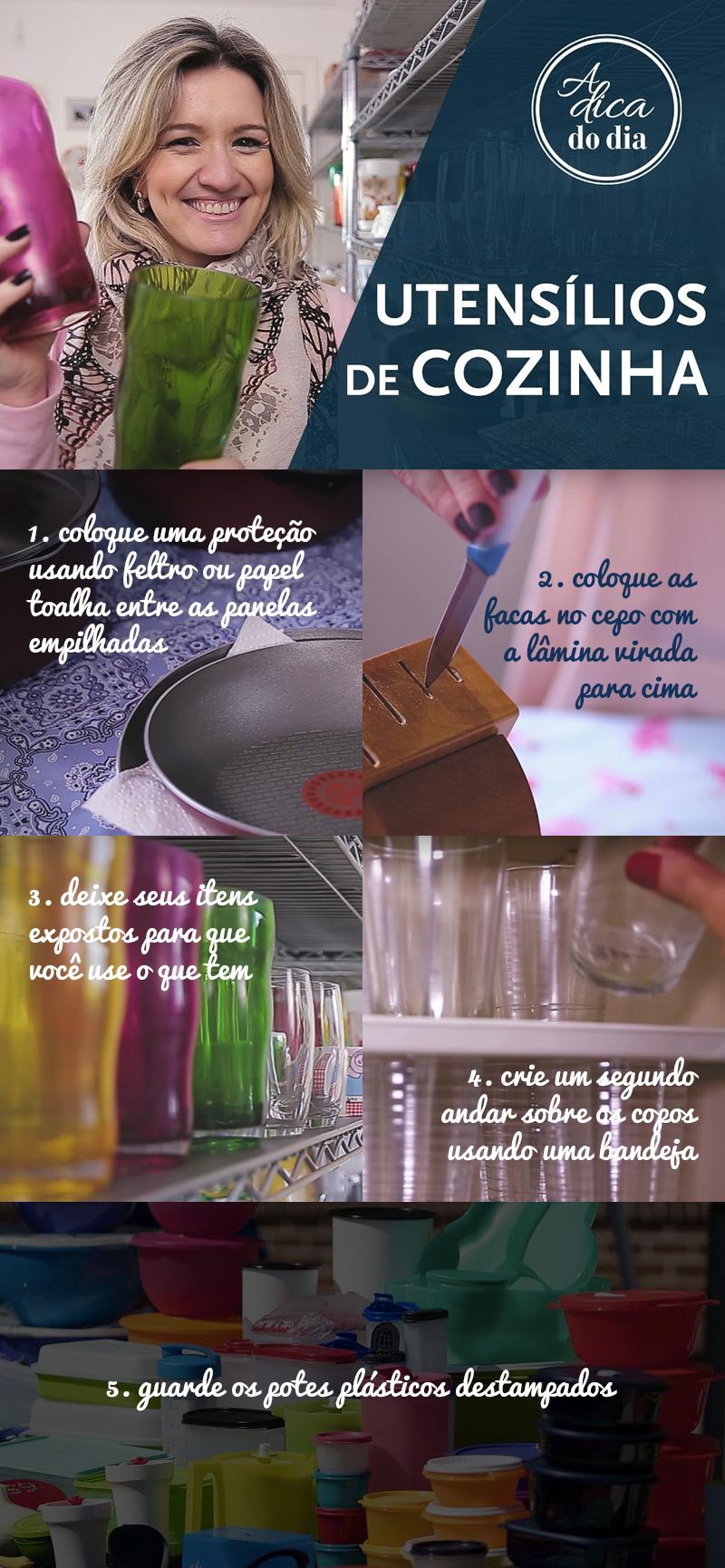 Dicas para cuidar dos seus utensílios e itens de cozinha