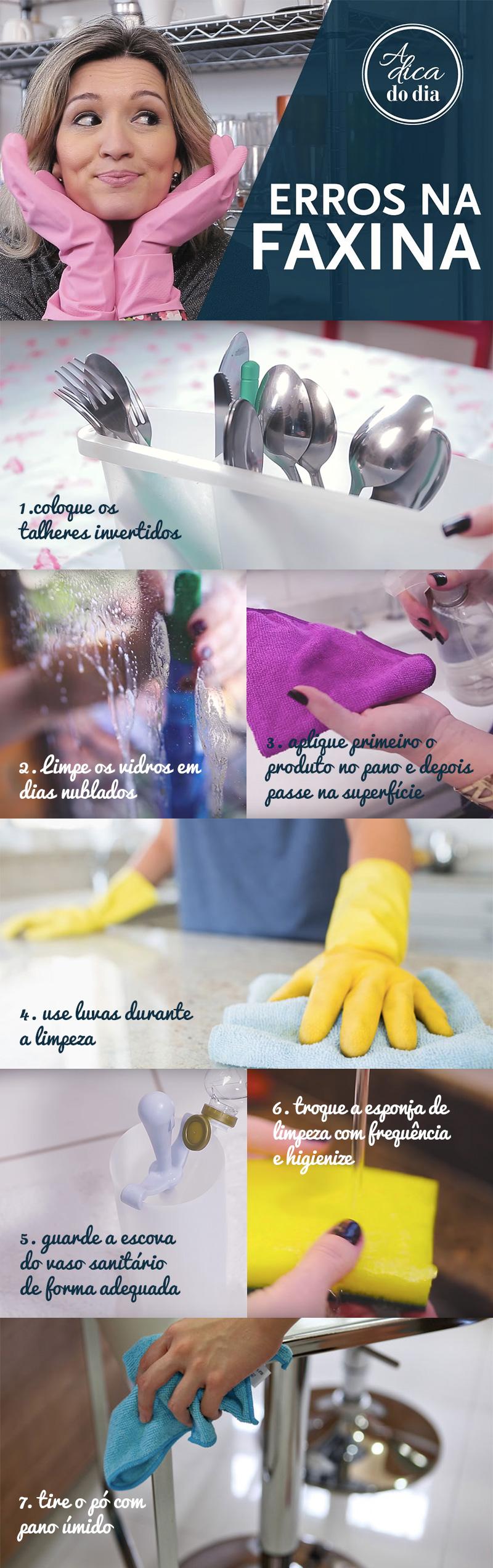 Conheça alguns erros comuns para você evitar na limpeza da sua casa
