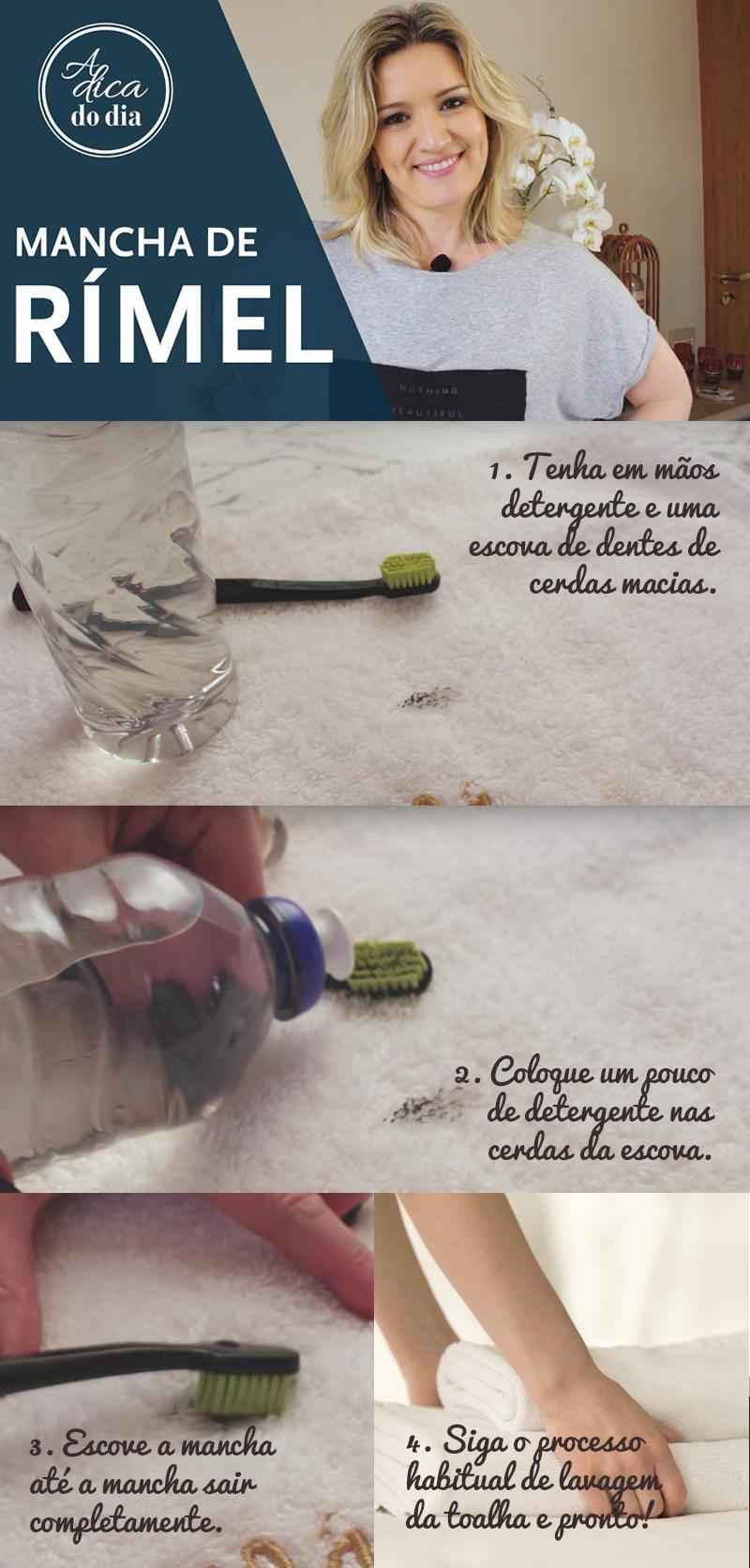 Aprenda como remover mancha de rímel das suas toalhas