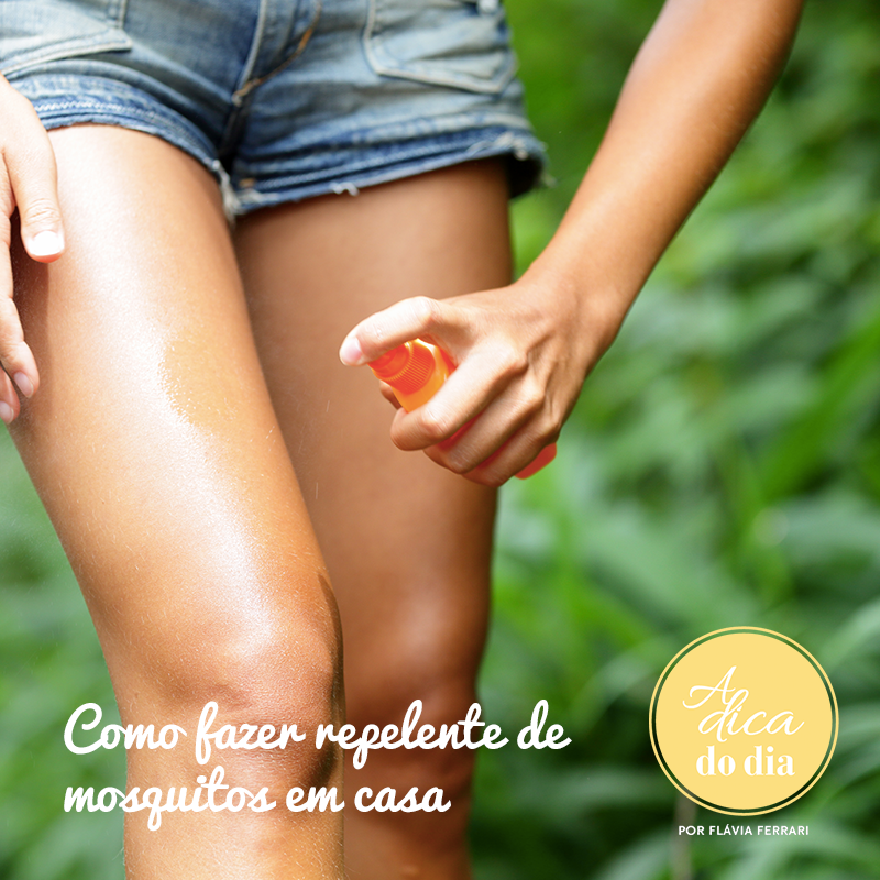 Aprenda como fazer um repelente de mosquitos caseiro