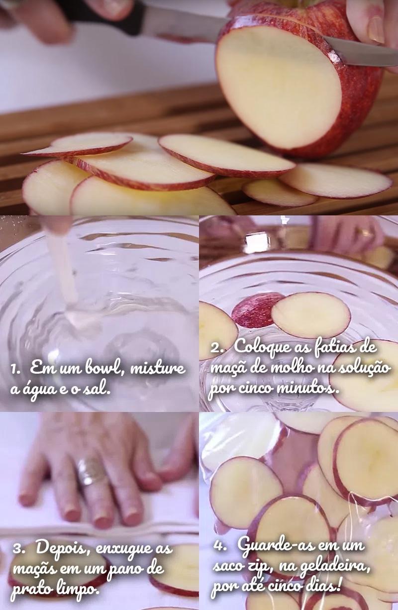 maçã cortada