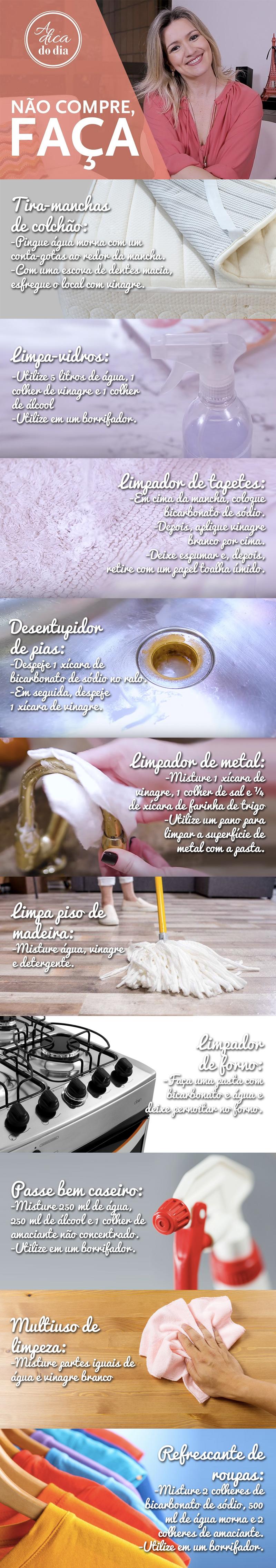 receitas de produto de limpeza para fazer em casa com Flávia Ferrari