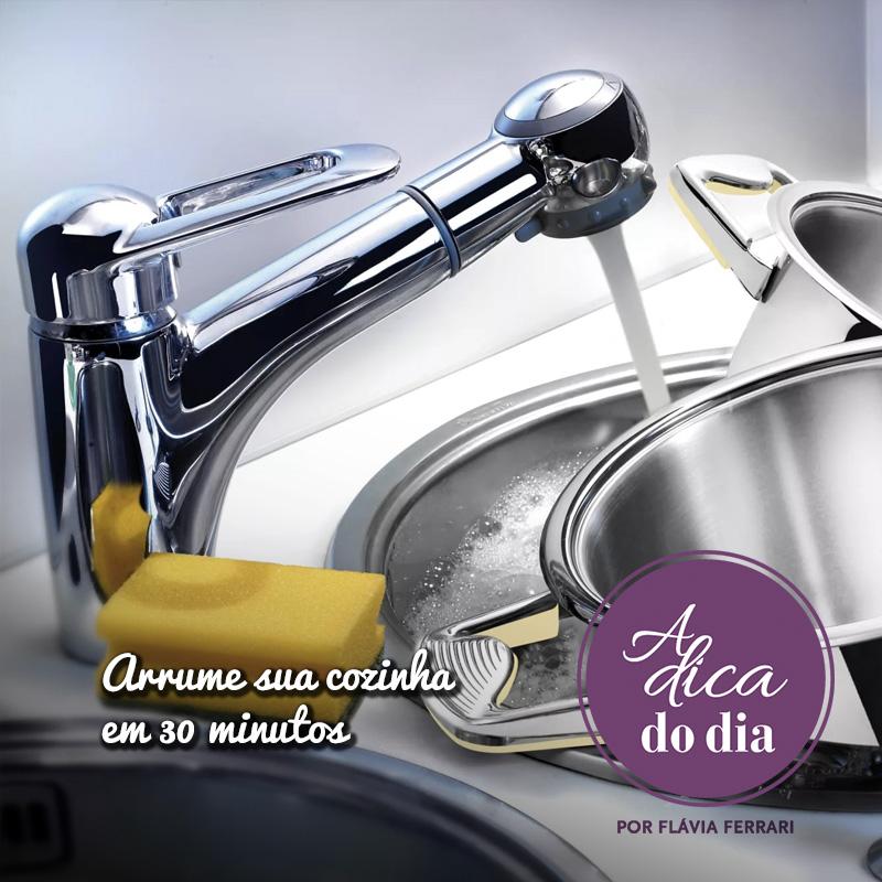 arrume sua cozinha em apenas 30 minutos
