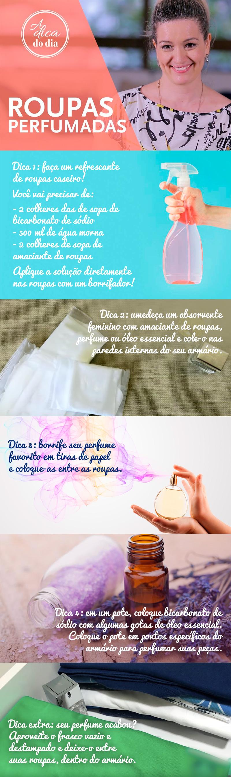 roupas perfumadas no armário