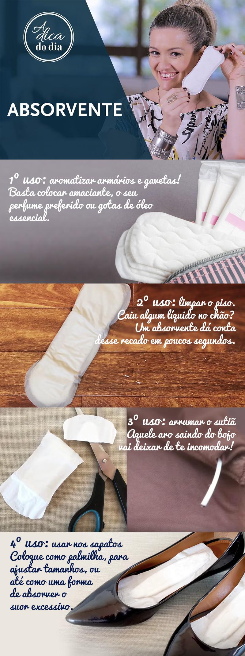 4 dicas para usar seu absorvente que ninguém te contou
