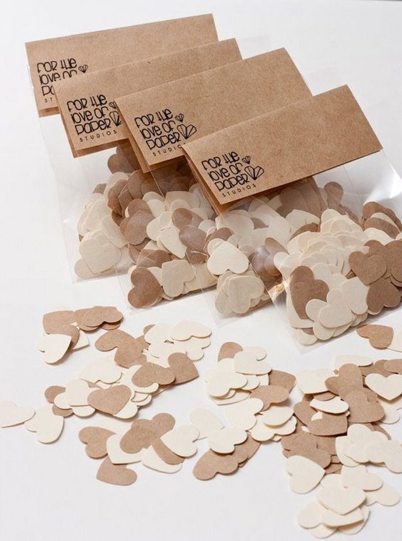 Decoração com papel pardo