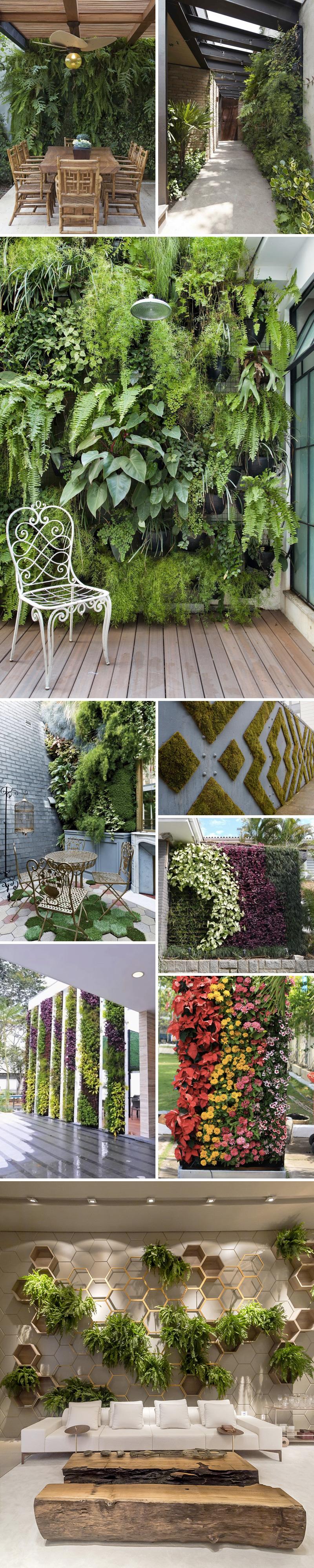 jardins verticais para se inspirar