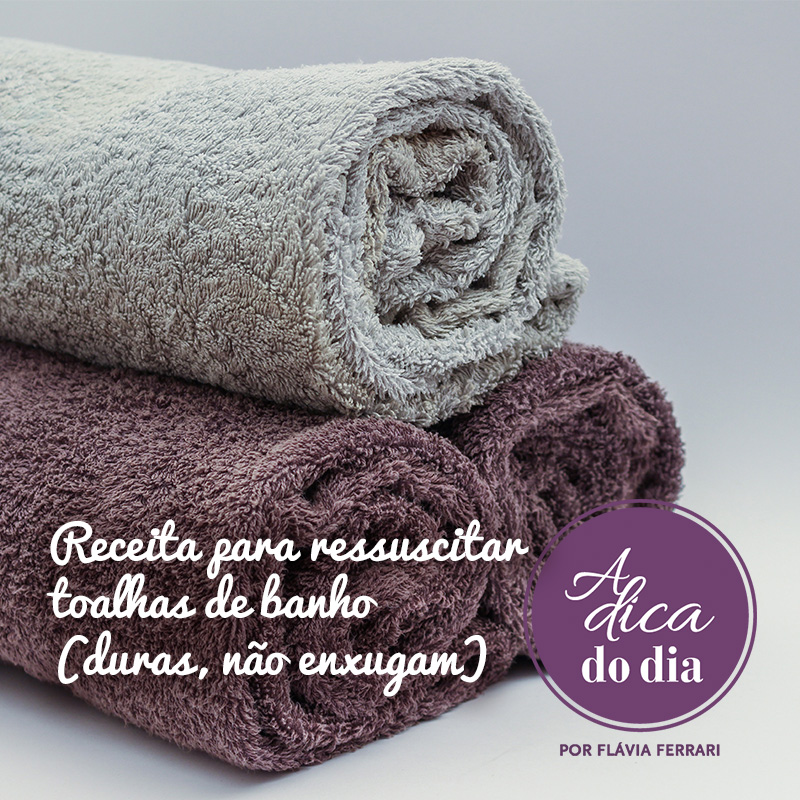 como ressuscitar as toalhas de banho