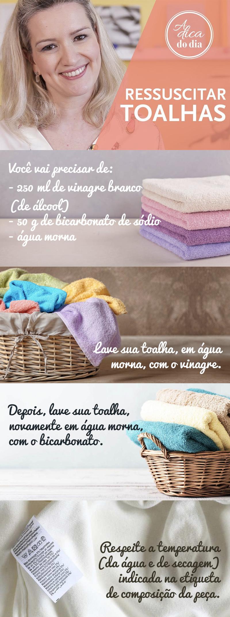 dicas para deixar a tolha de banho macia