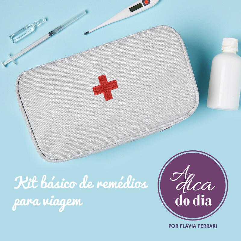 kit básico de remédios para viagem