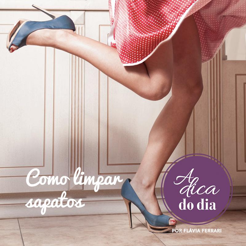 como limpar os sapatos