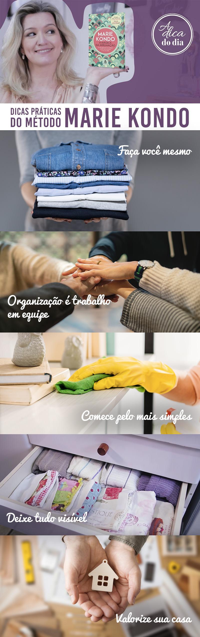 dicas práticas de organização do método marie kondo a dica do dia
