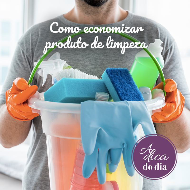 Como economizar produto de limpeza Flávia Ferrari