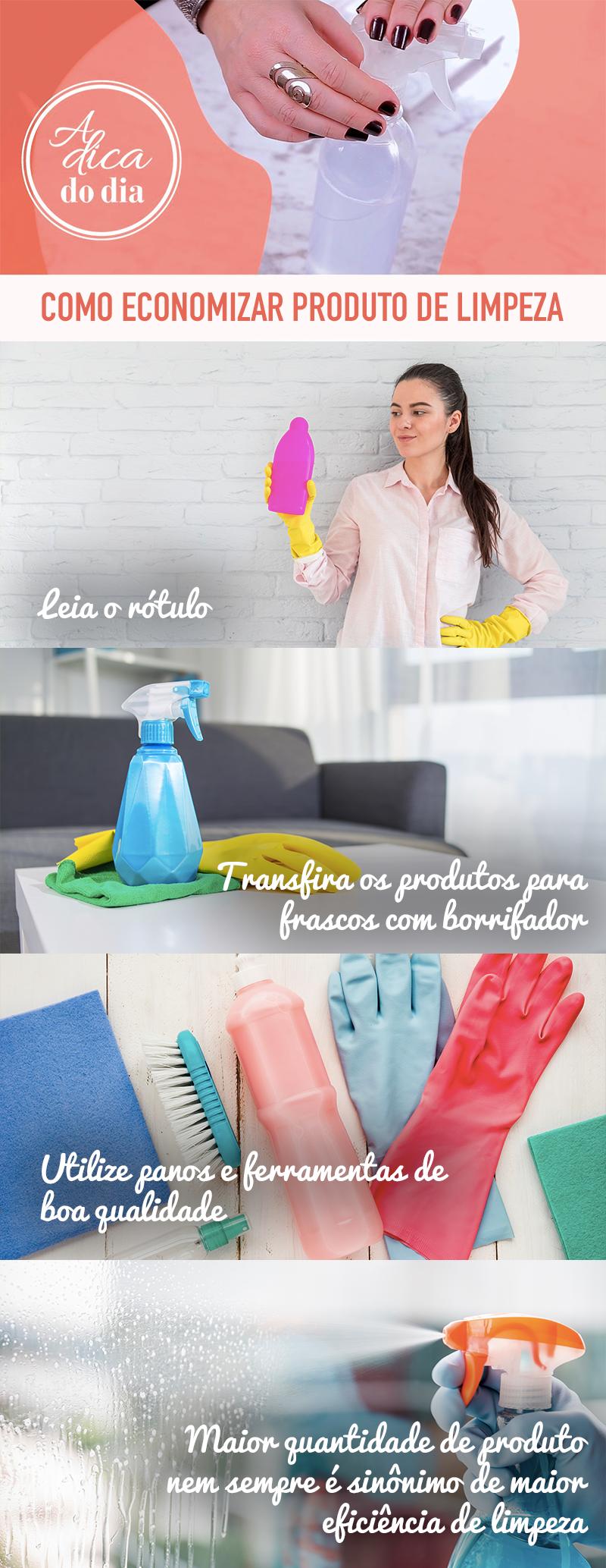 Economizar produto de limpeza Flávia Ferrari