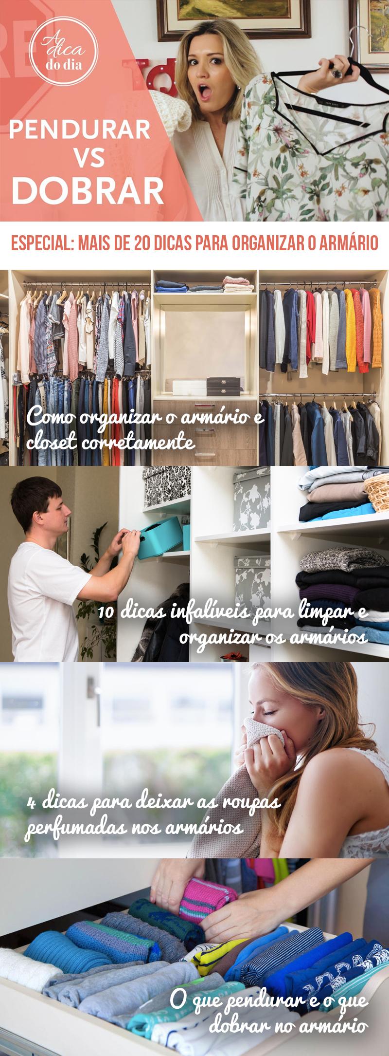 Dicas para organizar o armário Flávia Ferrari