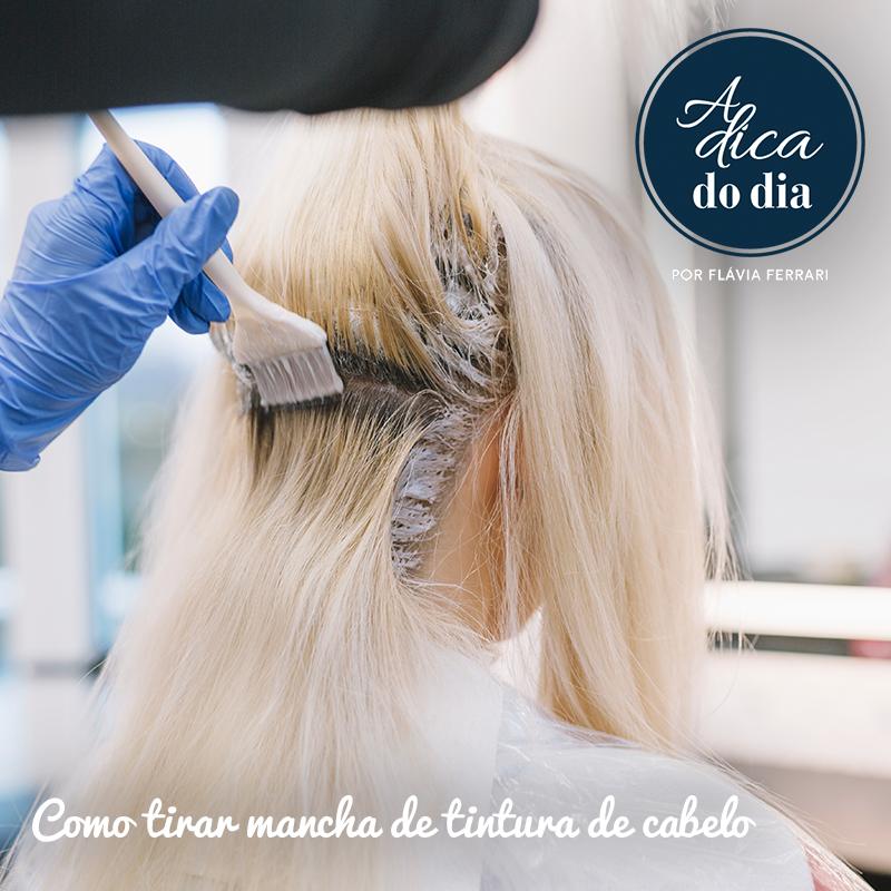 Mancha de tintura de cabelo Flávia Ferrari