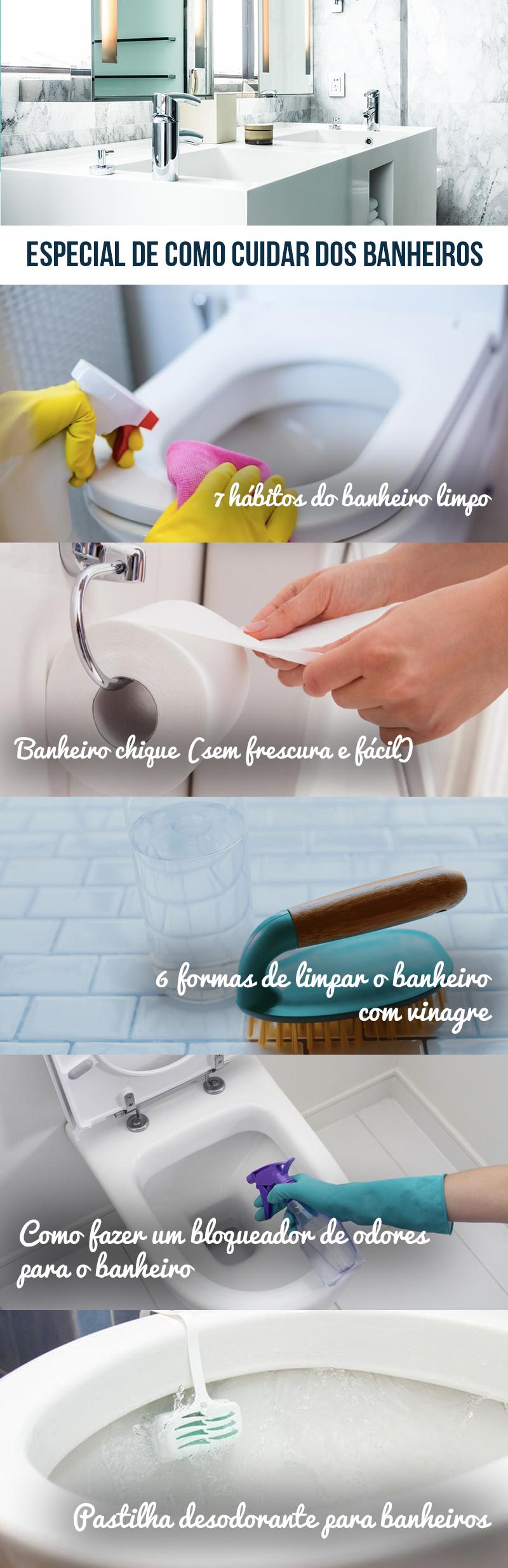Especial Banheiros: Dicas de limpeza e organização Flávia Ferrari