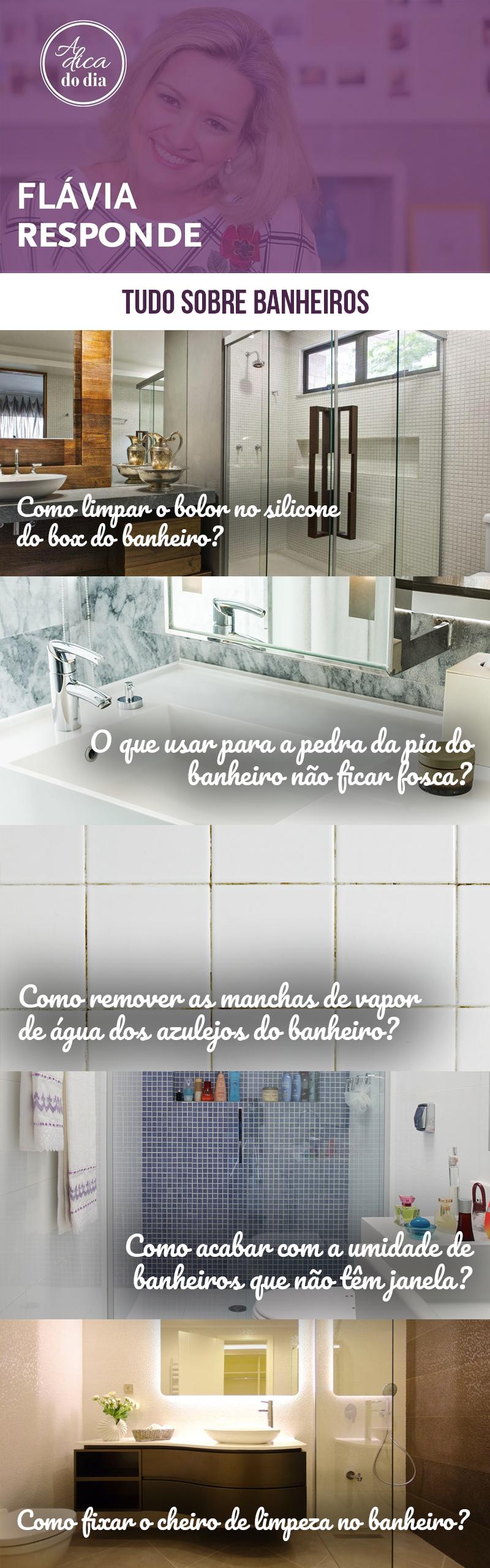 Tudo sobre limpeza do banheiro A Dica do Dia Flávia Ferrari