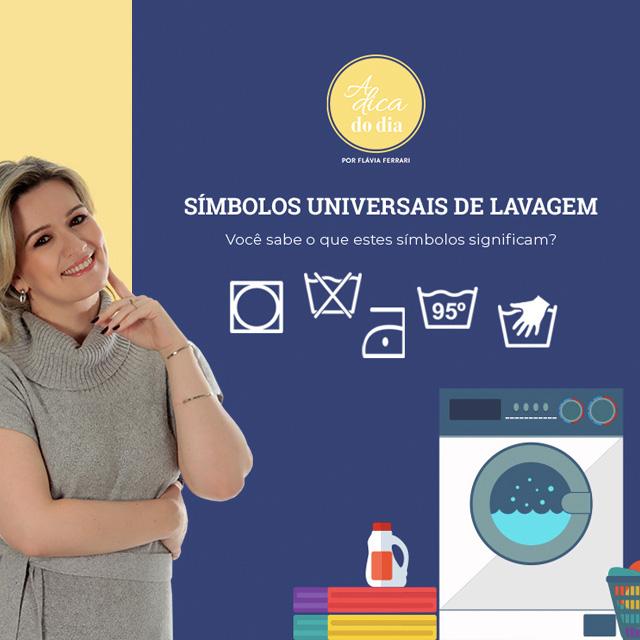 Símbolos de lavagem universais A Dica do DIa Flávia Ferrari