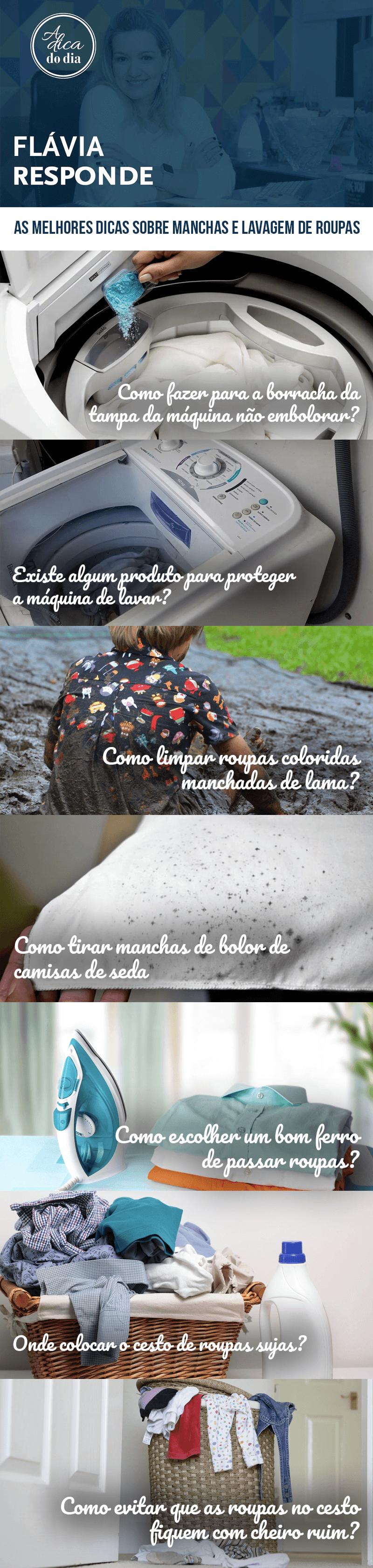 Manchas e lavagem de roupas Flávia Ferrari
