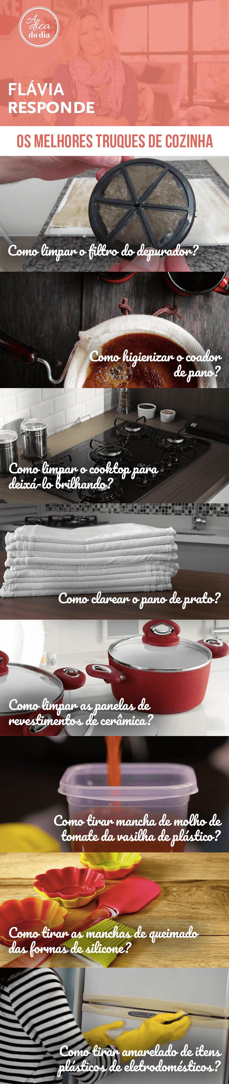 Melhores truques de cozinha A Dica do Dia Flávia Ferrari