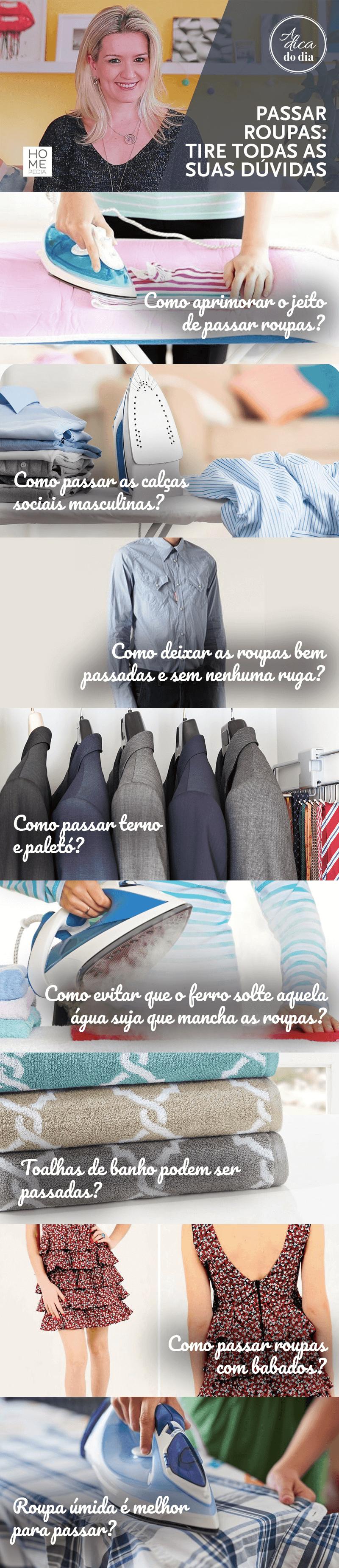 Dicas para passar roupas Flávia Ferrari