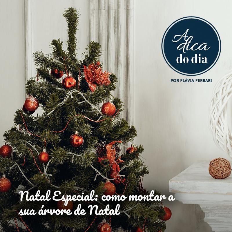Natal especial: como montar a sua árvore de Natal Flávia Ferrari A Dica do Dia