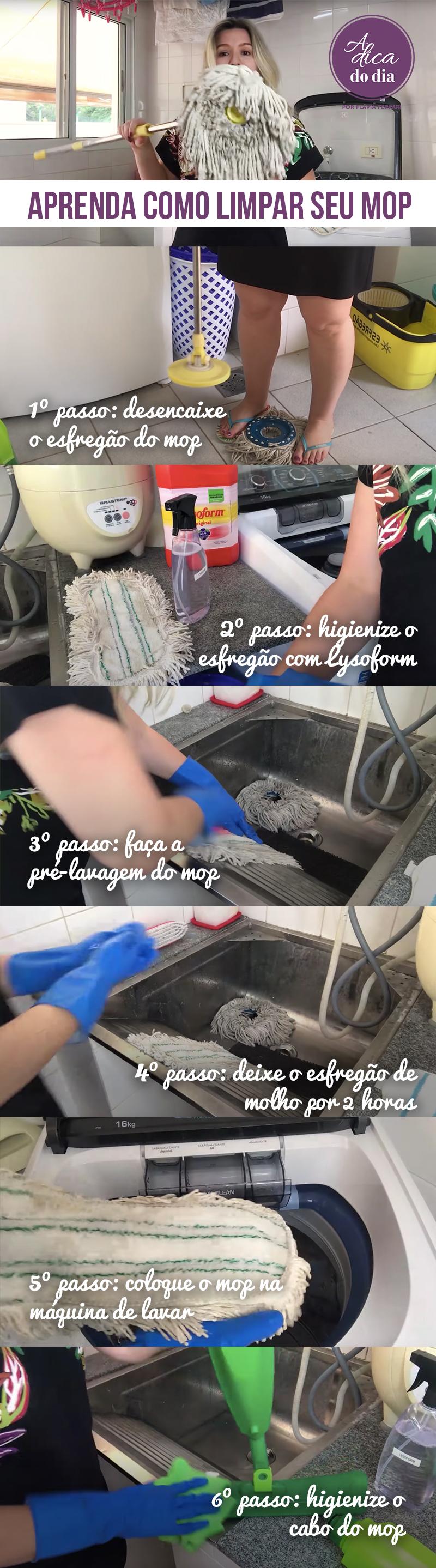 Aprenda como limpar o MOP A Dica do Dia Flávia Ferrari