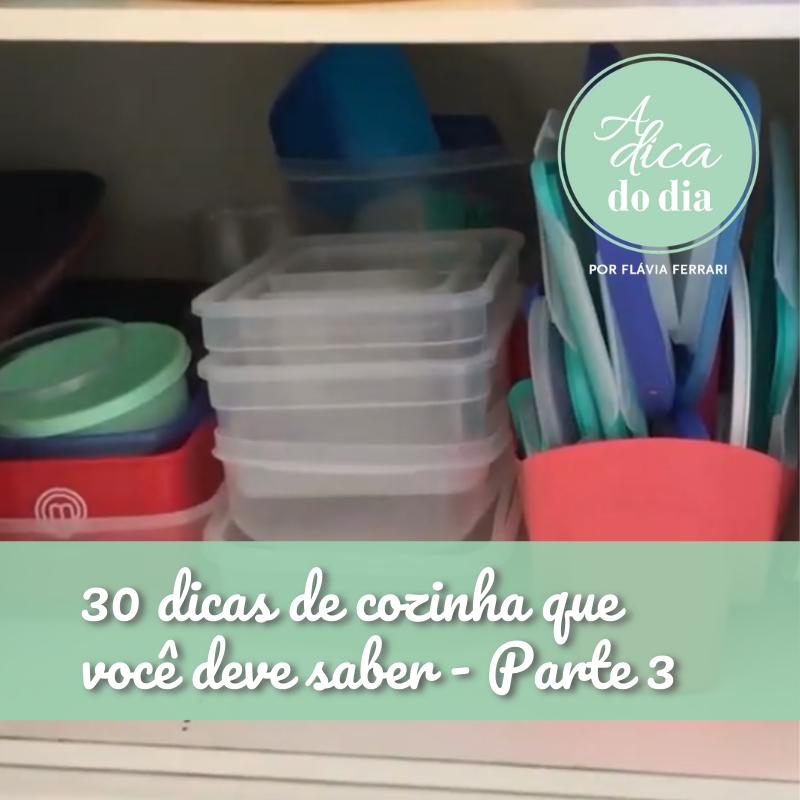 30 dicas de cozinha